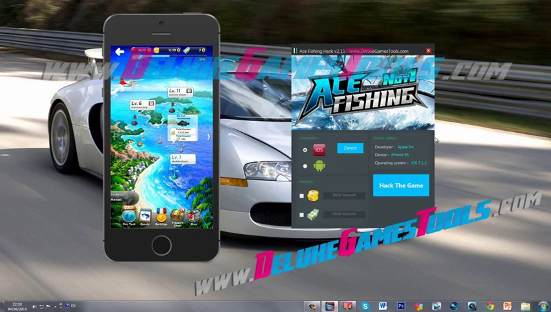 Ace Fishing Hack get unlimited gold and cash with the Ace Fishing Hack