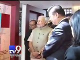 PM Narendra Modi with Chinese President Xi Jinping in Hotel Hyatt, Ahmedabad - Tv9 Gujarati
