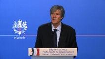 Point de presse de Stéphane Le Foll, porte-parole du Gouvernement, le 17 septembre