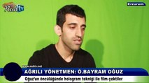 ÖZEL - Ağrılı Yönetmen Ömer Bayram Oğuz hologram tekniğiyle çektiği film ile adından söz ettiriyor