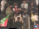 Dunya News - PTI Worker fight in Azadi March Dharna Islamabad