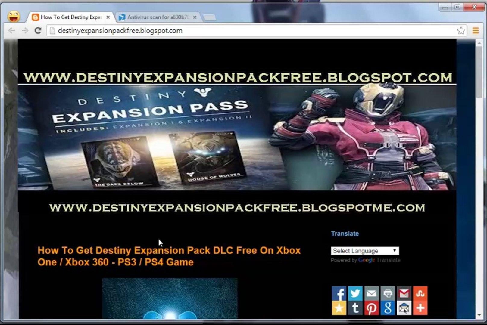 Unlock/ Install Destiny Expansion Pack DLC Code Leaked