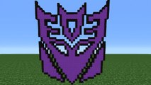 Minecraft Tutorial How To Make The Autobot Logo