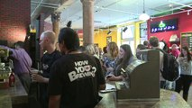 'Friends' fans flock to New York pop-up Central Perk cafe