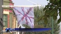 Londres: des artistes réinventent le drapeau britannique