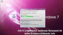 HowTo iOS 8 JAILBREAK Evasion Untethered iPhone 6 / 5S , 5C , 4S , 4 , iPod Touch & iPad Mini 5 2 , Air , 4,3