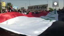 """تظاهرات ضد آمریکایی در بغداد، پیشنهاد کری به ایران در مقابله با """"دولت اسلامی"""""""