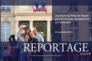 [REPORTAGE] Ouverture du Palais de l'Élysée pour les Journées européennes du patrimoine