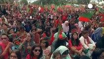تظاهرات مخالفان دولت پاکستان در کراچی