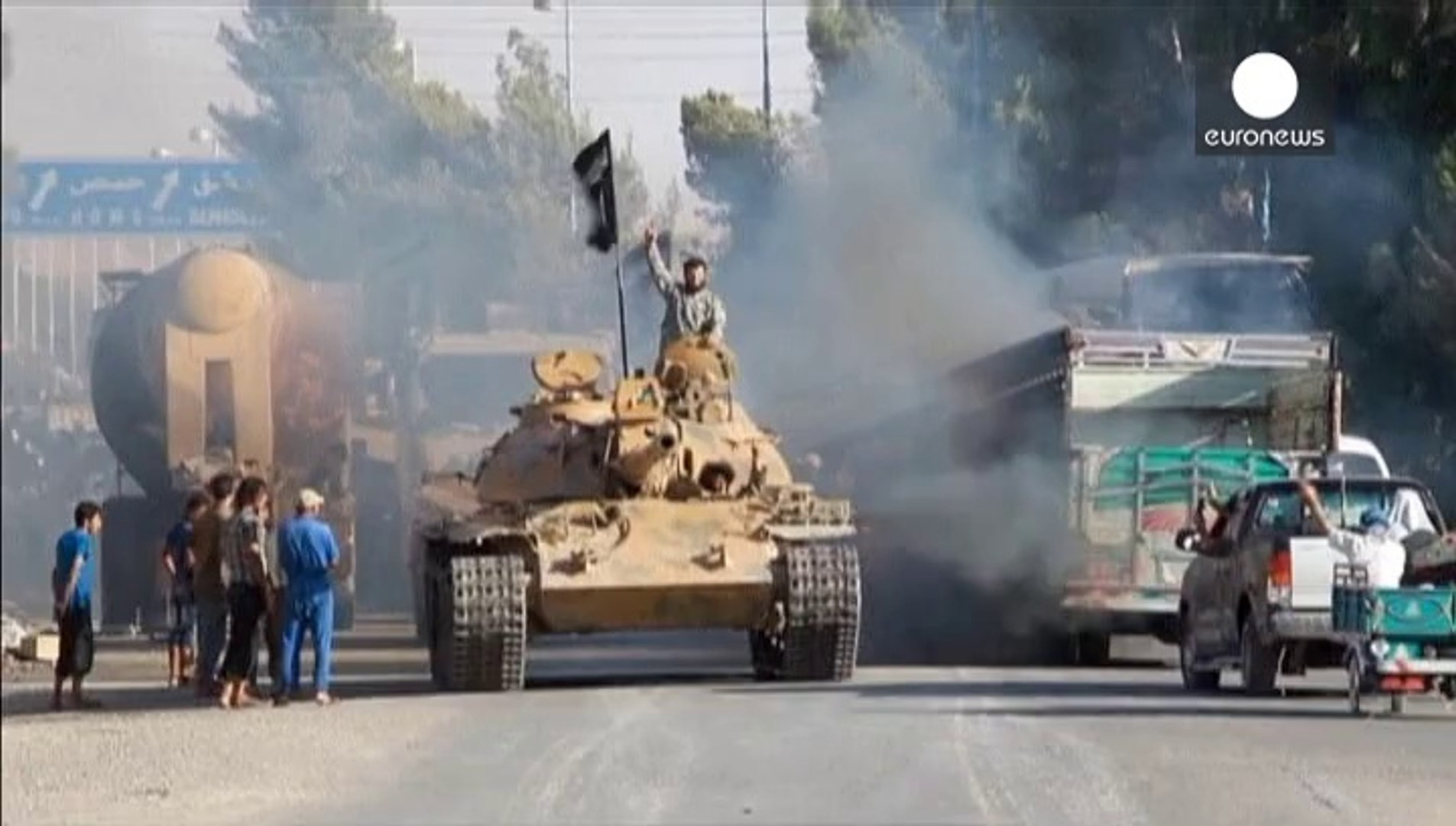 First air strikes against Islamic State militants in Syria