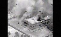 Images aériennes des bombardements américains en Syrie