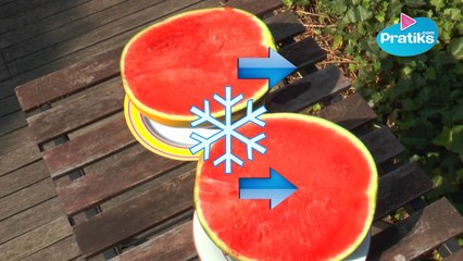 How to cool down watermelon on direct sunshine