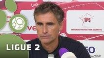 Conférence de presse Dijon FCO - US Créteil-Lusitanos (2-1) : Olivier DALL'OGLIO (DFCO) - Philippe  HINSCHBERGER (USCL) - 2014/2015