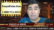 Philadelphia Eagles vs. San Francisco 49ers Free Pick Prediction Pro Football Point Spread Odds Betting Preview 9-28-2014