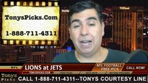 New York Jets vs. Detroit Lions Free Pick Prediction Pro Football Point Spread Odds Betting Preview 9-28-2014