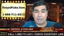 Texas A&M Aggies vs. Arkansas Razorbacks Free Pick Prediction College Football Point Spread Odds Betting Preview 9-27-2014