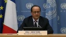 Point de presse lors de la 69e Assemblée générale des Nations Unies