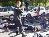 Les pompiers de Caen en colère