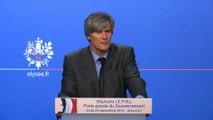Point de presse de Stéphane Le Foll, porte-parole du Gouvernement, le 25 septembre