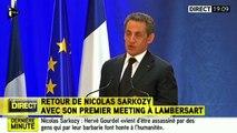 """Sarkozy à Lambersart : """"Si vous saviez comme je suis heureux de vous retrouver"""""""