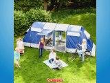Skandika Montana 6 Tente de camping tunnel familiale pour 6 personnes Bleu 650 x 240 cm