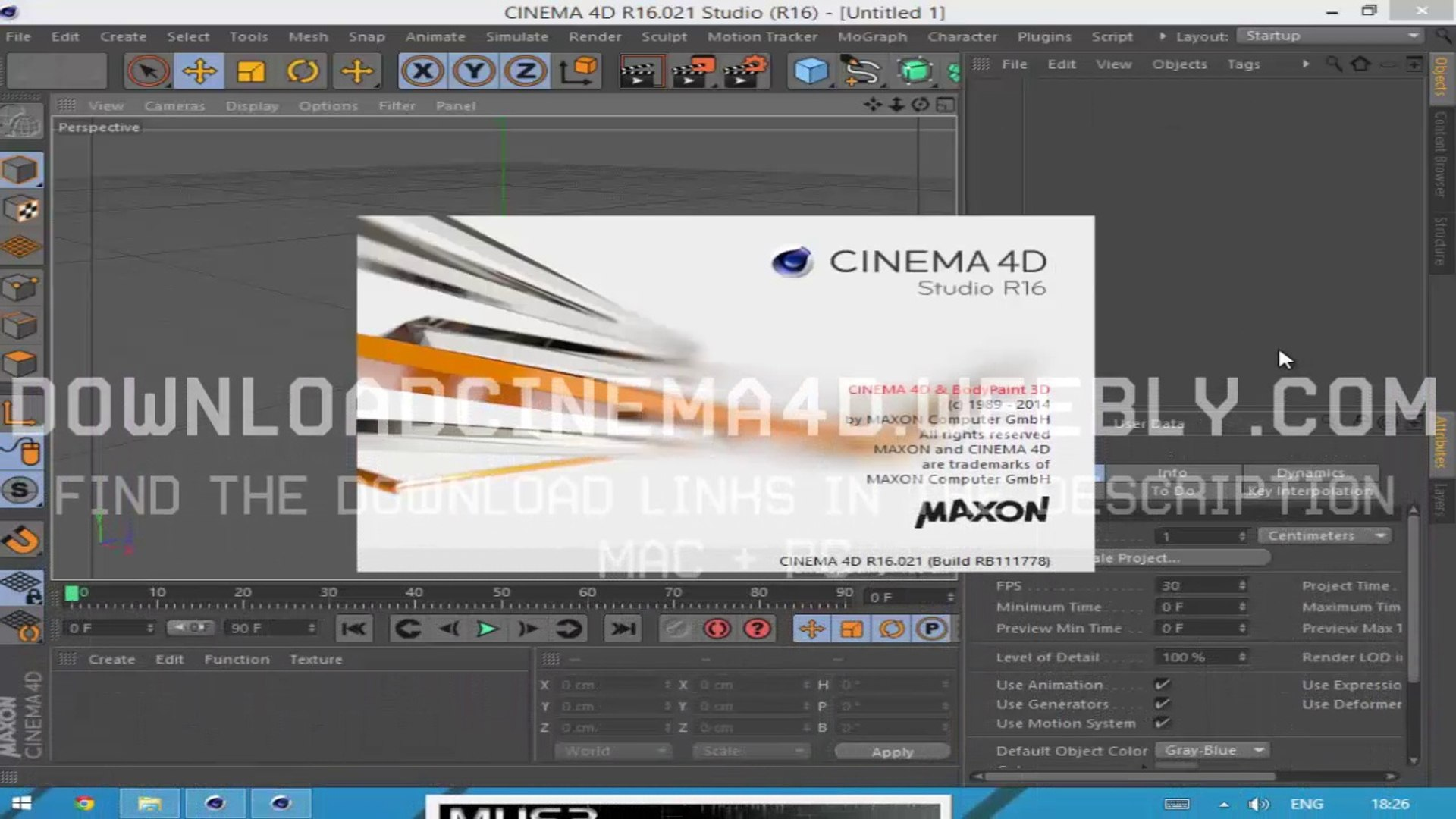 Cinema 4D R16 FREE Download ☼ Mac Win