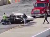 Un méchant crash en voiture