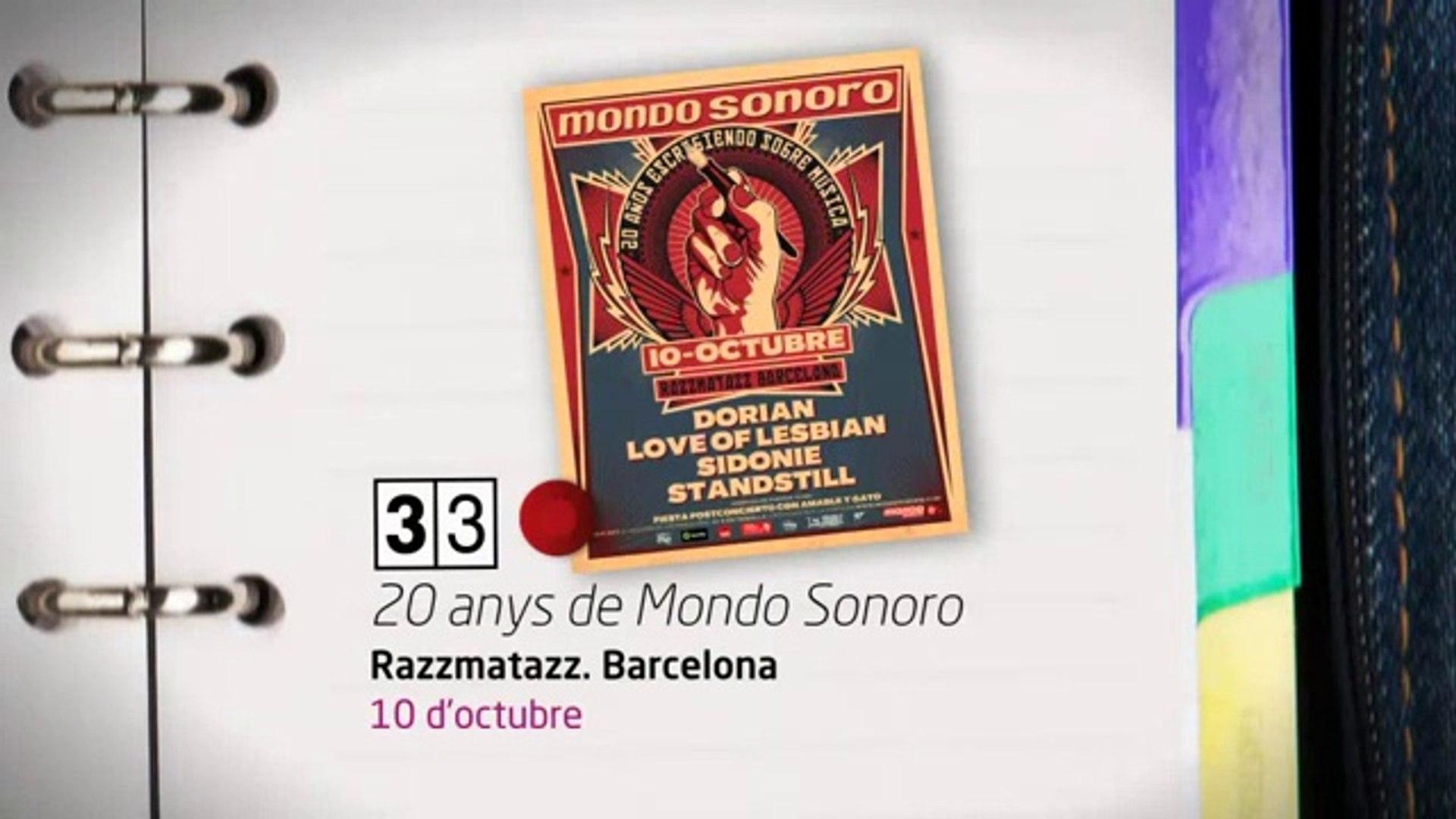 TV3 - 33 recomana - 20 anys de Mondo Sonoro. Razzmatazz. Barcelona