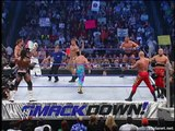 RVD & Rey Mysterio vs Eddie Guerrero & Booker T vs Reigns & Jindrak vs Bashams Smackdown 13.01.2005