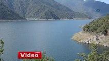 Altınkaya Baraj Gölü'nde su seviyesi düştü