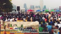 'Sit Down' - Students lead protest in Hong Kong 'Occupy Central with Love and Peace'.
