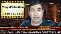 Air Force Falcons vs. Boise St Broncos Free Pick Prediction College Football Point Spread Odds Betting Preview 9-27-2014