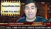 Nebraska Cornhuskers vs. Illinois Fighting Illini Free Pick Prediction College Football Point Spread Odds Betting Preview 9-27-2014