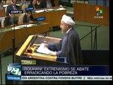 Exige Rouhani ante la ONU derogación de sanciones contra Irán