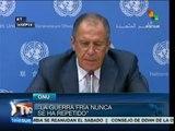 """Rusia afirma que no sostiene ninguna """"guerra fría"""" con EEUU"""