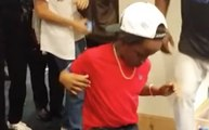 Infielder Juan Uribe's Son Steals Show With Dance Move in Dodgers Clubhouse