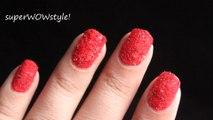 Velvet Nail Art - Flocking Nails with Flocking Powder DIY Nail Polish Beginners how to Tutorial