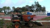 Obras de los nuevos equipamientos deportivos en Perlora