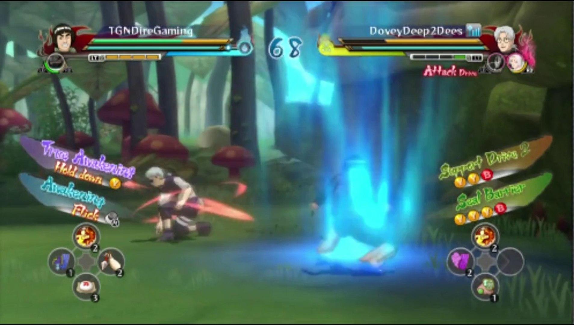 Might Guy VS Kabuto In A Naruto Shippuden Ultimate Ninja Storm Revolution Ranked Xbox Live Match / B