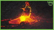 Volkanik Göle Taş Atılırsa Bakın Ne Olur