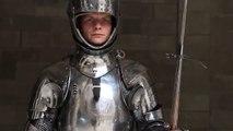 reconstitution d'un combat en armure comme au XVe siècle