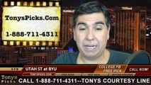BYU Cougars vs. Utah St Aggies Free Pick Prediction College Football Point Spread Odds Betting Preview 10-3-2014