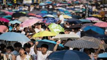 Hong Kong Protesters Swarm Streets In 'Umbrella Revolution'