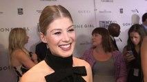 Gone Girl New York Film Festival Premiere - Rosamund Pike Red Carpet Interview