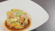 Recette de tartare de saumon, orange, avocat & coriandre - Gourmand