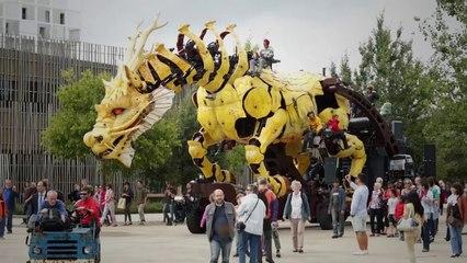 Le cheval-dragon, dernier-né des Machines de l'île à Nantes - La Pixellerie Productions