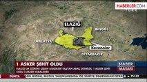 Elazığ'dan Acı Haber: 1 Asker Şehit, 3 Asker Yaralı