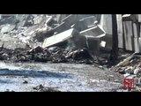 Giugliano (NA) - Rogo nella zona Asi vicino al campo rom (30.09.14)