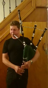 Mr. Gregory Playing Mikel Bagpipe (the pipers bonnet)