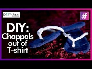 Easy DIY Tutorial   Put Your Old T-shirts To Make Trendy Chappals